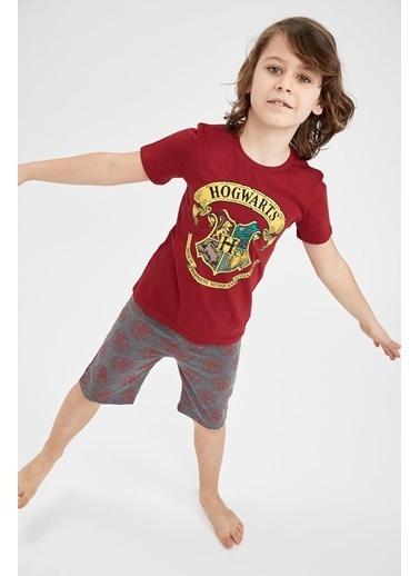 DeFacto Erkek Çocuk Harry Potter Lisanslı Pijama Takımı Bordo